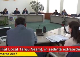 Ședința extraordinară a C.L. Târgu Neamț din 13 martie a.c.