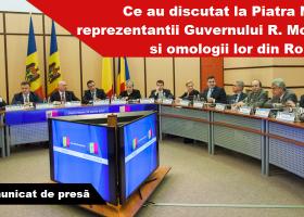 Guvernele de la Chișinău și București s-au întrunit într-o ședință comună în format restrâns