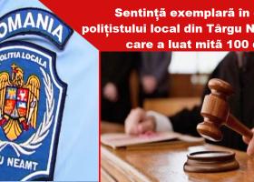 Polițist local, condamnat pentru luare de mită