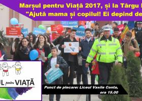Sâmbătă, 25 martie: Marșul pentru Viață, în Târgu Neamț și alte peste 260 de orașe din România și R. Moldova