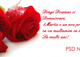 PSD Neamț – Felicitare de 8 Martie