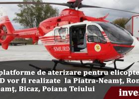 Heliport pentru SMURD, și la Târgu Neamț