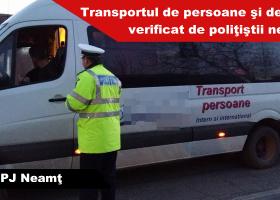 Transportul de persoane şi de elevi, verificat de poliţiştii nemțeni