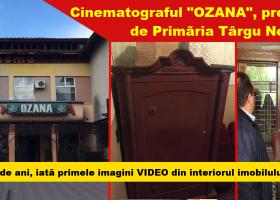 """Primăria Târgu Neamț a preluat fostul Cinematograf """"OZANA"""". Cum arată după zeci de ani cu lacătul pe ușă"""
