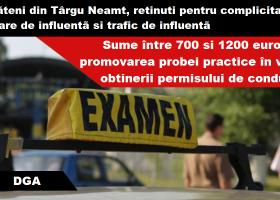 Târgu Neamț: Șpăgi pentru promovarea probei de oraș