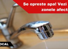 Atentie: marti, 9 mai se oprește apa în mai multe zone din Târgu Neamț