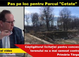 """Pas pe loc pentru Parcul """"Cetate"""" din Târgu Neamț"""