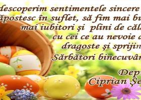 Deputat PSD Neamț Ciprian Șerban – Felicitare de Paști
