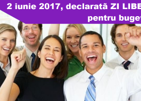2 iunie 2017, zi liberă pentru sectorul public