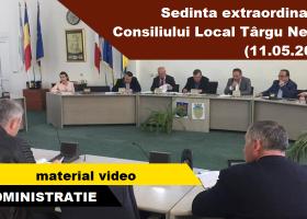 Târgu Neamț: Consiliul Local, în ședință extraordinară