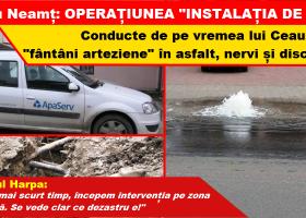 """Târgu Neamț: Operațiunea """"Instalația de apă"""""""