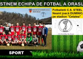 Duminică, meci de fotbal pe Stadion Cetatea. Susține echipa orașului tău!
