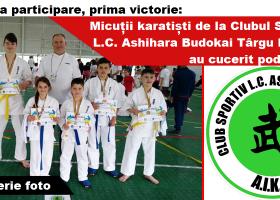 Micuții karatiști de la Clubul Sportiv L.C. Ashihara Budokai Târgu Neamț au cucerit podiumul la o competiție de profil