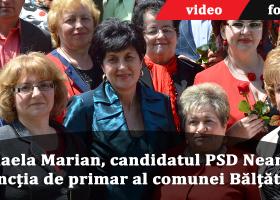 Social democrata Mihaela Marian și-a depus candidatura la funcția de primar al comunei Bălțătești