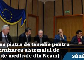 Începe modernizarea sistemului de urgențe medicale din Neamț