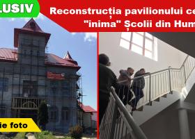 """Stadiul lucrărilor la Școala nr. 3 """"Ion Creangă"""" (Humulești, Târgu Neamț)"""
