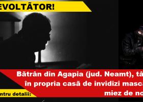 Agapia, Neamț: Bătrân tâlhărit în propria casă! (UPDATE)