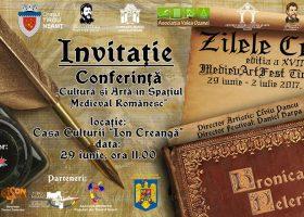 """Astăzi, conferința """"Cultură și Artă în Spațiul Medieval Românesc"""""""
