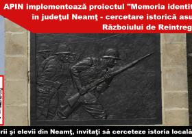 Un nou proiect inedit, inițiat de Asociația Profesorilor de Istorie din județul Neamț