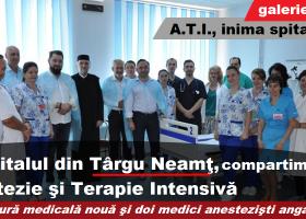 Anestezie şi Terapie Intensivă, la Spitalul din Târgu Neamţ