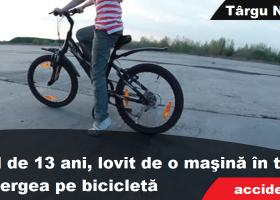 Târgu Neamţ: Copil pe bicicletă, lovit de o maşină
