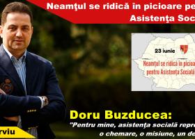 Județul Neamț se ridică în picioare pentru asistența socială! Interviu cu Doru Buzducea