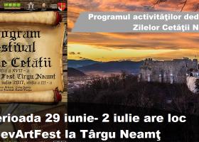 Programul Zilelor Cetății Neamț (29 iunie- 2 iulie)