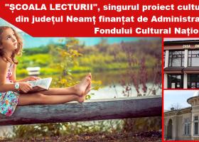 """""""Școala Lecturii"""", singurul proiect din Neamț care a obținut finanțare nerambursabilă din partea AFCN"""