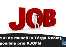 Târgu Neamț: Lista locurilor de munca vacante înregistrate la 18 septembrie 2017