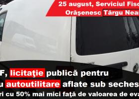 Târgu Neamț: Patru autovehicule, scoase la vânzare de Finanțe