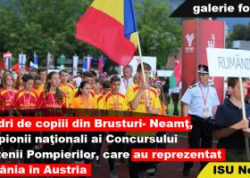 Mândri de copiii din comuna Brusturi, reprezentanții României la Competiția Internațională a Tinerilor Pompieri