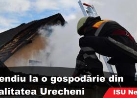 Incendiu la o gospodărie din Urecheni- Neamț