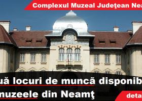 Nouă posturi de personal contractual, scoase la concurs de Complexul Muzeal Județean Neamț