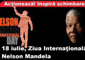 18 iulie, Ziua Internațională Nelson Mandela.  67 de minute în ajutorul semenilor