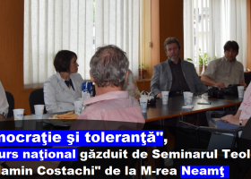 """Seminarul Teologic Ortodox """"Veniamin Costachi"""", gazda Concursului Naţional """"Democraţie şi toleranţă"""""""