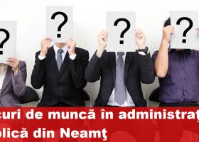 LOCURI DE MUNCĂ ÎN ADMINISTRAȚIA PUBLICĂ DIN NEAMȚ la 21 iulie 2017