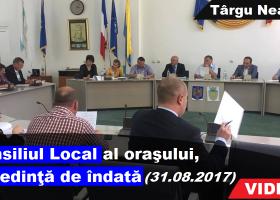 Consiliul Local Târgu Neamț, în ședință de îndată