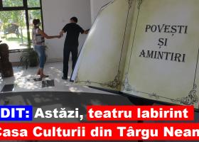 Bogdan Nechifor aduce teatrul labirint la Târgu Neamţ