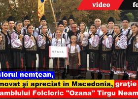 """Ansamblul Folcloric """"Ozana"""", perla festivalului internaţional de la Ohrid"""