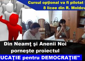 """Proiectul """"Educație pentru Democrație"""", finanțat de Ministerul pentru românii de pretutindeni"""