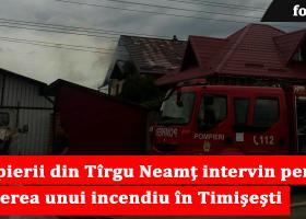 O casă din comuna Timișești a luat foc