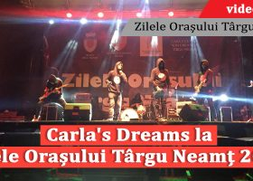 """Carla's Dreams, show incendiar la Târgu Neamț! Peste 10.000 de oameni au simțit concertul…""""Până la sânge"""""""