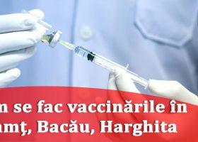 Cum se fac vaccinările în Neamț, Bacău, Harghita