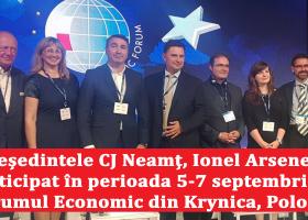 Participarea președintelui CJ Neamț, Ionel Arsene, la cea de-a XXVII-a ediție a Forumului Economic din Krynica, Polonia