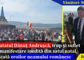 Deputatul Dan Andrușcă, implicat într-o manifestare inedită din comuna natală, dedicată eroilor neamului românesc