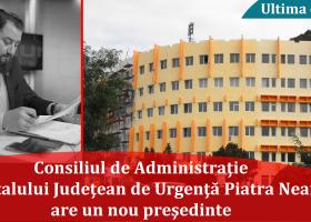 Preşedinte nou în Consiliul de Administraţie al Spitalului Judeţean