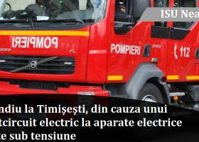 Incendiu la un apartament din Timișești